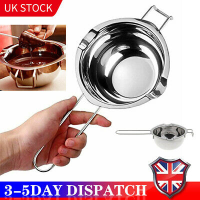 Stainless Steel Wax Melting Pot Double Boiler For DIY Wedding Scented Candle • 6.85£