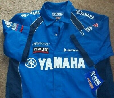 AU70.88 • Buy New With Tag Yamaha Racing Pit Shirt With Patches Logos Size Mens Xl Clothing