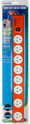 AU59.90 • Buy 8 Way Outlet Power Board With Heavy Duty Metal Housing Surge Master Switch