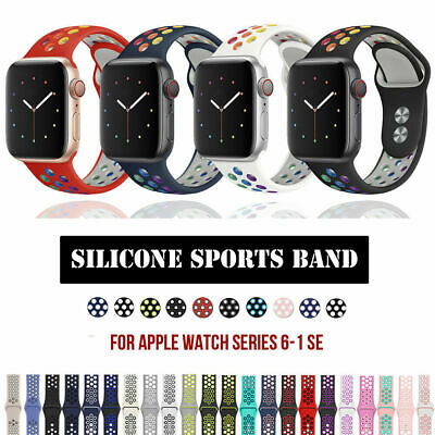 $ CDN5.99 • Buy 40/44/38/42mm Silicone Sport Band Strap For Apple Watch SE IWatch Series 6 5 4 3