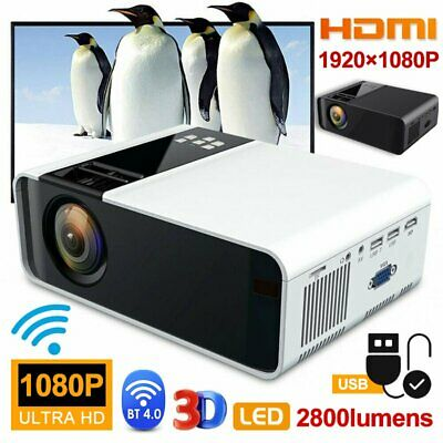 AU138.51 • Buy 4K HD 1080P Home Theater LED Android Wifi Wireless Projector Bluetooth HDMI Remo