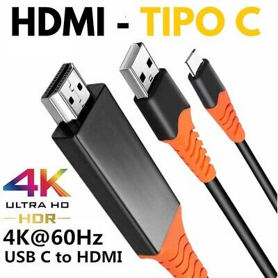 AU22.51 • Buy Cable Mhl 4K 2 M For HDMI For USB Type C For Samsung Xiaomi Huawei