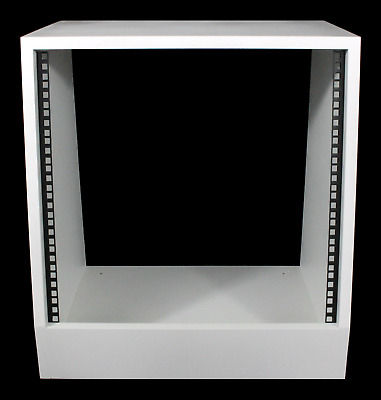 White 10u Angled 19  Inch Wooden Rack Unit/case/cabinet For Studio/DJ/recording • 96£