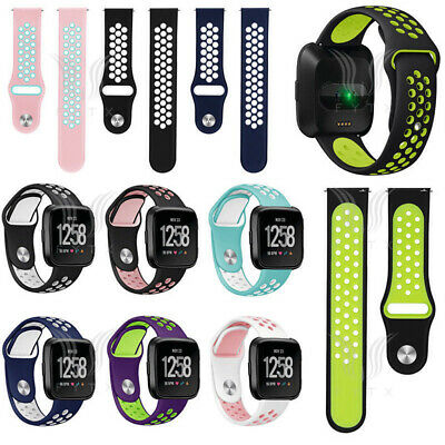 $ CDN4.86 • Buy Sport Silicon Replacement Strap Breathable Watch Band For Fitbit Versa 2 / Versa