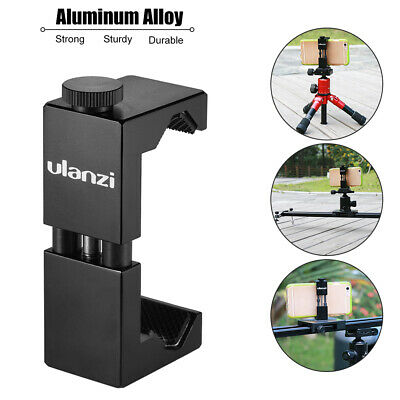 AU19.46 • Buy Metal Phone Tripod With Hot Shoe Mount-Ulanzi ST02S Smartphone Holder Clamp