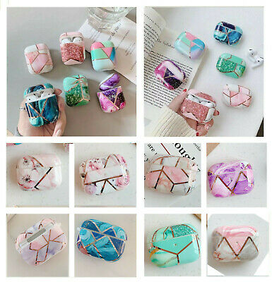 AU15.29 • Buy For Apple Airpods 1/2 & Pro Case Marble Geometric Design Shockproof Protective