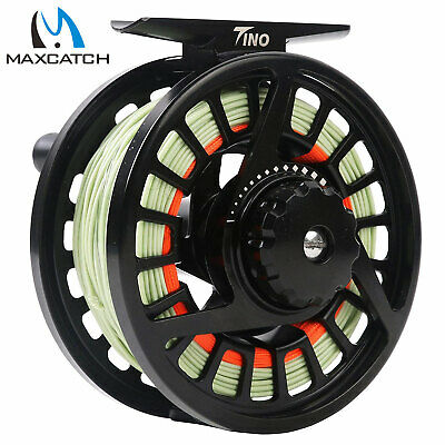 $ CDN45.57 • Buy Maxcatch 3/4 5/6 7/8WT Tino Pre-loaded Fly Fishing Reel With Line,Trout Fly Reel