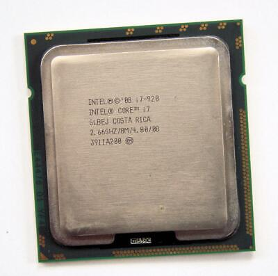 $ CDN27.34 • Buy Intel Core I7-920 SLBEJ Quad-Core 2.66GHz/8M Socket LGA1366 Processor CPU
