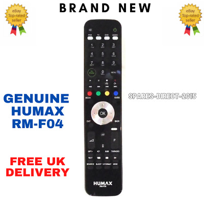 New Genuine Humax RM-F04 Freeview+ HD Remote For HD-FOX T2 HDR-FOX T2 PVR Boxes • 22.95£