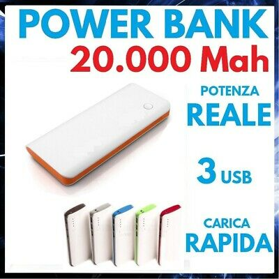 AU25.98 • Buy Power Bank 20000 MAH Battery External 3 USB Charger Portable Universal