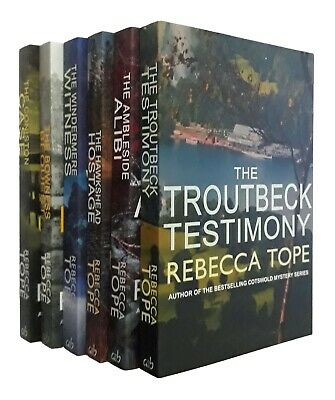 Rebecca Tope 6 Books Lake District Mystery Series Windermere Witness Inorder New • 17.40£