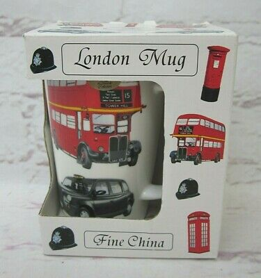 Leonardo Lesser & Pavey Ltd Fine Bone China Mug London Icons Souvenir Boxed • 9.99£