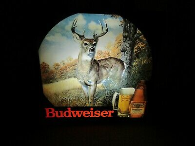 $ CDN261.33 • Buy Budweiser Beer DEER BUCK HUNTING Lighted WALL SIGN
