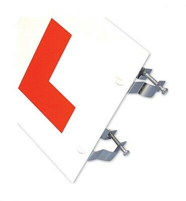 BIKE IT 1 X RIGID 2MM THICK L-PLATE WITH FIXING BRACKETS LEARNER PLATES • 3.99£