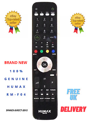 £24.95 • Buy New Original Humax RM-F04 Freeview+ HD Remote For HD-FOX T2 HDR-FOX T2 PVR Boxes