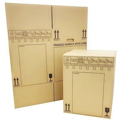 NEW *20 X LARGE Cardboard House Moving Boxes - Removal Packing Box *OFFER* 24HRS • 15.90£