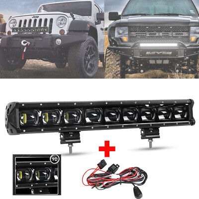 AU99.99 • Buy 21 Inch 90W LED Light Bar Flood Spot 4X4 Offroad SUV ATV Driving 9D Lens + Wire