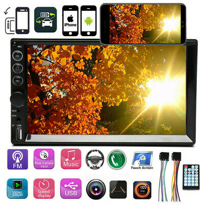 $77.99 • Buy 7'' Double 2 Din Car Stereo Touch Bluetooth Radio Mirror Link For GPS Navigation