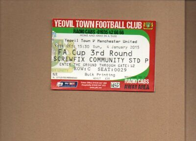 Used Ticket - Yeovil Town V Manchester United FAC 4.1.2015 • 2.50£