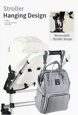 Multi-Function Tote Baby Mummy Diaper Nappy Backpack Changing Shoulder Bag  • 15.99£
