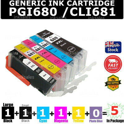 AU33 • Buy 5x 680 681 XXL Ink For Canon PIXMA TR7560 TR8560 TS6100 TS6160 TS6260 TS-6360