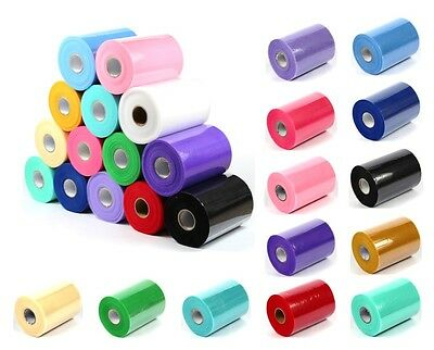 TUTU TULLE ROLL - 6  Wide X 25/100yrds - Craft Fabric Soft 100% Nylon Netting • 5.29£