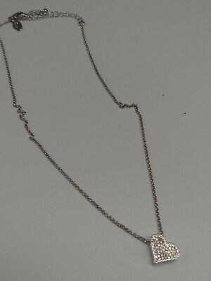 $ CDN15 • Buy Lia Sophia  Susanne Marie  Silvertone/Cut Crystal Heart Pendent Necklace 16-19