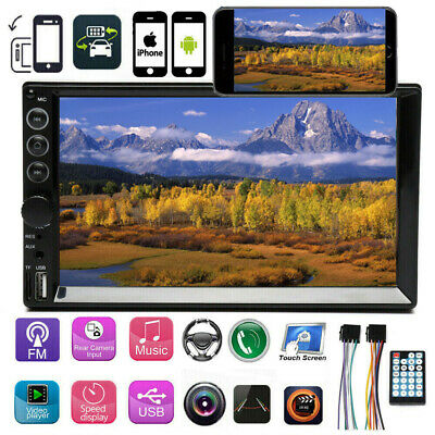 $71.99 • Buy 2Din 7inch Car Stereo Radio MP5 Bluetooth FM Mirror Link For GPS HD Touch Screen