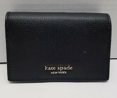 $ CDN58 • Buy Kate Spade Sylvia Mini Keyring Bifold Wallet Black Leather NWT