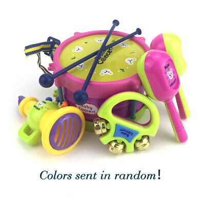 Kids Roll Drum Instruments Trumpet Musical Band Children Toy Gift Kit • 7.99£