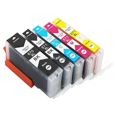 AU14.80 • Buy Compatible Ink Cartridges Canon PGI 670 CLI 671 XL For MG5760 MG5765 MG6060