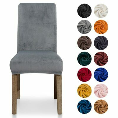 Thick Velvet Chair Cover Dining Chair Slipcover Elastic Stretch Chair Cover Case • 7.10£