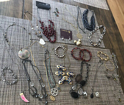 $ CDN79.99 • Buy Costume Jewelry Lot Necklace Bead Bracelet Pendant J Crew Lia Sophia Crafts