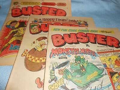 Collection Of Vintage UK BUSTER Comics #6 • 1.99£