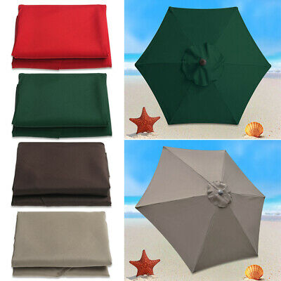 Fit For 210cm Width Parasol Replacement Fabric Garden Parasol Canopy Cover 6 Arm • 17.88£