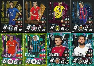 Match Attax 2020/21 Choose Your Star Player/rising Star/man Of The Match/subsets • 0.99£