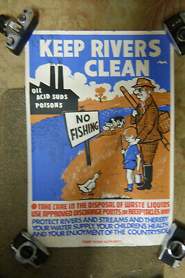 Vintage River Trent River Authority Pollution  1970S ROD SHIRLEY • 29£