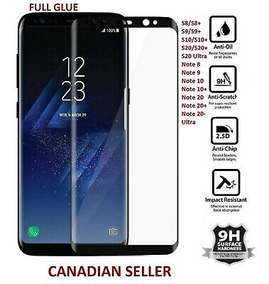 $ CDN4.99 • Buy Tempered Glass Screen Protector For Samsung Galaxy S8 S9 S10 S20 + Plus Note 10