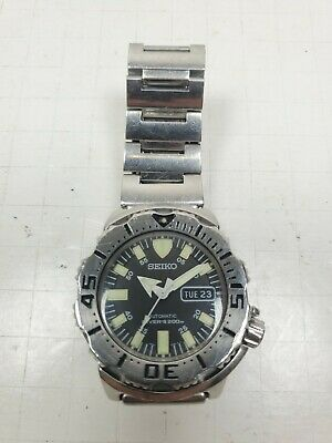 $ CDN418.58 • Buy Seiko Monster 7S26-0350 Black Diver 200M Automatic 42mm Watch