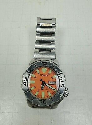 $ CDN490.01 • Buy Seiko Monster 7S26-0350 Orange Diver 200M Automatic 42mm Watch