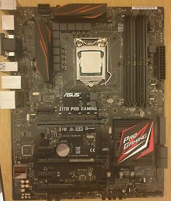 Intel Core I5 6600k 3.5GHz CPU And ASUS Z170 PRO GAMING Bundle • 155£