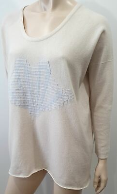 BAMFORD ENGLAND Cream Cashmere Wide Slouchy Knit Jumper Sweater Top XS • 455£