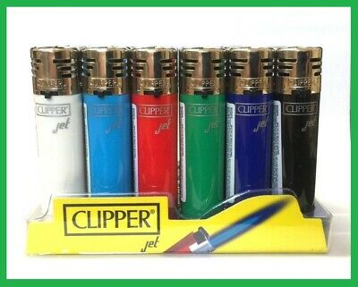 £4.99 • Buy 3 X CLIPPER WINDPROOF JET TURBO FLAME LIGHTER GAS REFILLABLE CIGARETTE LIGHTERS