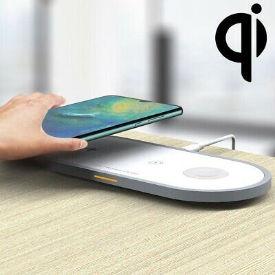 AU39.99 • Buy 3-in-1 Wireless Qi Fast Charger Dock Stand For AirPods & Apple Watch And IPhone