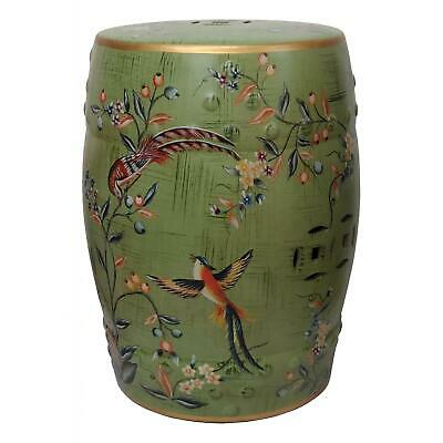 £107 • Buy Chinese Ceramic Stool / Plant Stand - Birds And Flowers Pattern