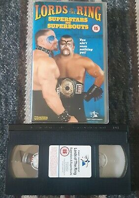 WWF WWE WCW Wrestling VHS Video Tape LORDS OF THE RING - SUPERSTARS & SUPERBOUTS • 8.99£