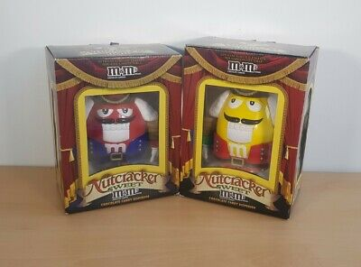 2 X M&M's Chocolate Candy Dispenser Nutcracker Christmas Collectable  • 24.99£
