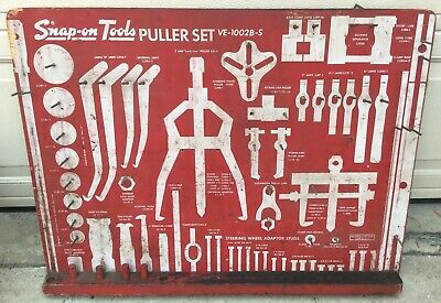 $140 • Buy Old Used Snap On Tools Puller Set Board Only Board No. VE-102B