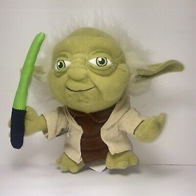 AU11.10 • Buy Yoda Plush Comic Images Lightsaber Star-Wars Yoda Toy Star Wars Collectible New
