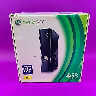 AU208.90 • Buy Xbox 360 Slim 4GB Console Black - PAL *Boxed & Complete*